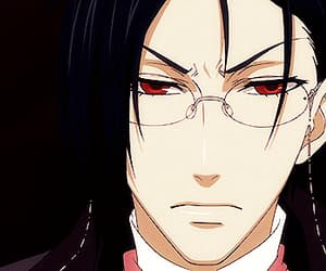 black butler, gif, and red eyes image