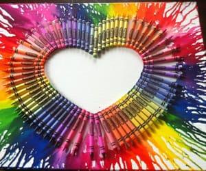 art, diy, and crayon art image