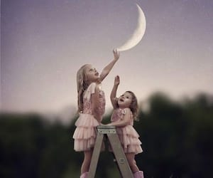 moon, child, and photography image