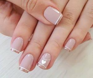 heart, white, and nail art image