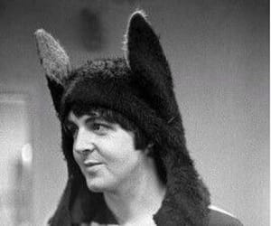b&w, the beatles, and macca image