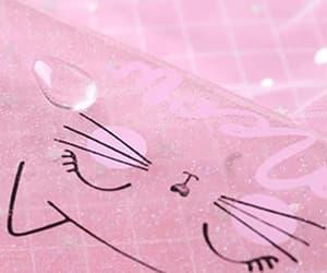 cat, kawaii, and pencil case image