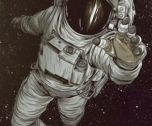 space, astronaut, and galaxy image