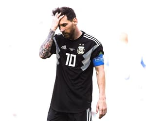 football, goat, and lionel messi image