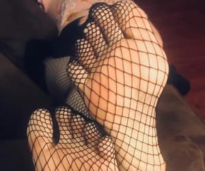 fashion, feet, and fishnets image