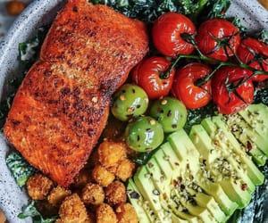 avocado, food, and kale image