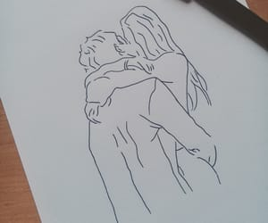 art, cute couple, and doodles image