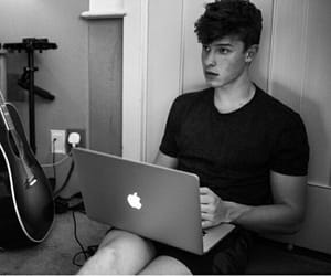 art, black and white, and shawn mendes image
