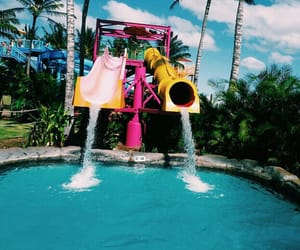 blue, pink, and water image