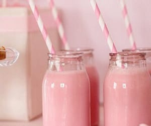 pink, drink, and milk image