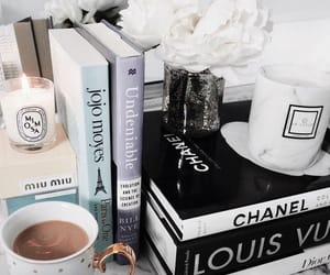 book, flowers, and chanel image