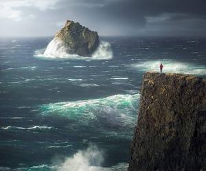north atlantic ocean, icelandic coast, and witnessing the power image