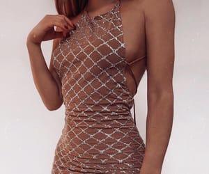 backless dress, dress, and fashion image