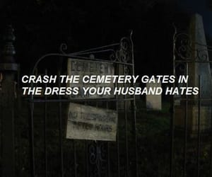 aesthetic, cemetery, and dress image