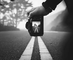 background, black and white, and camera image