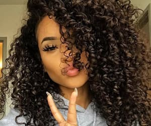curly, curly hair, and mixed image