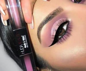 eyes make up, make up, and huda image