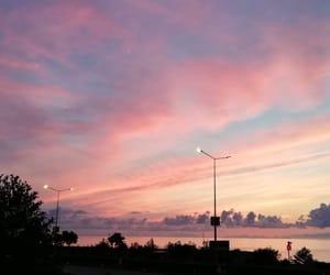 pembe, gökyüzü, and doğa image