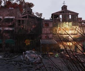 abandoned, overcast, and eerie image
