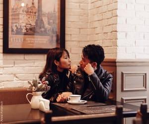 boyfriend, girlfriend, and lunch image