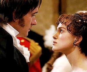 elizabeth bennet, mr darcy, and gif image