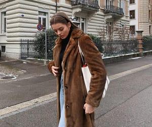 classy, denim, and maxi coat image