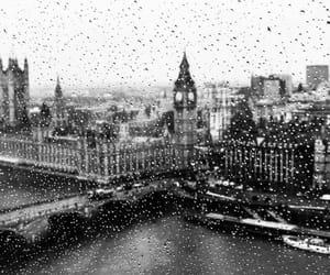 background, london, and rainy image