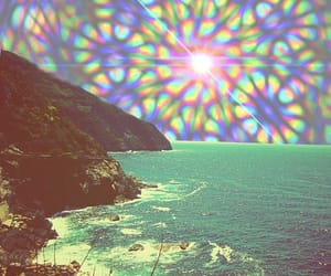 beach, sea, and psychedelic image