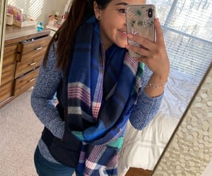 cold days, blue outfit, and scarfs image