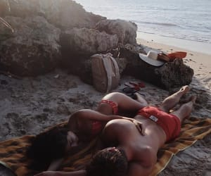 beach, bikini, and boy image