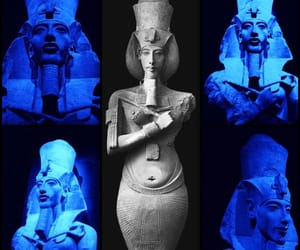 blue, egypt, and blue glow image