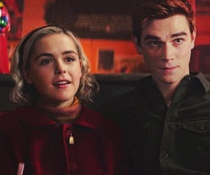 sabrina spellman, archie andrew, and riverdale crossover image