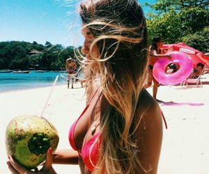 beach, fruit, and water image
