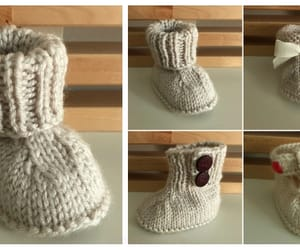 baby, booties, and knitting image