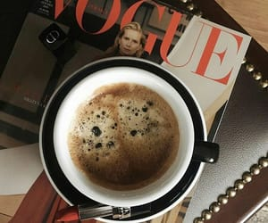 coffee, vogue, and lipstick image