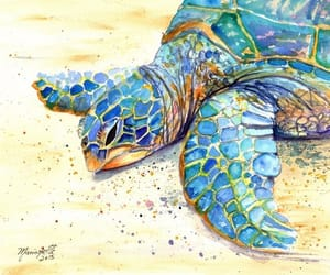 etsy, poipu beach art, and sea turtle print image