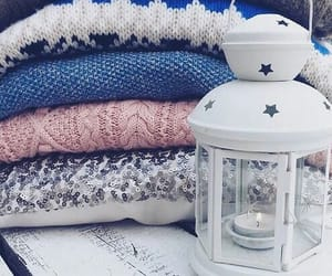 winter, sweater, and candle image