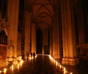 aisle, cathedral, and france image