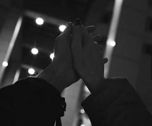 ask, black and white, and holding hands image