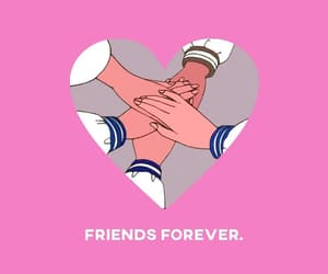 draw, wallpaper, and friendsforever image