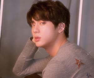 glitter, jin, and bts image
