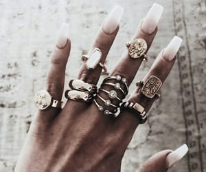 jewelry, nails, and chic image