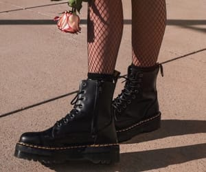 doc martens, grunge, and rose image