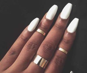 fashion, nails, and white nails image