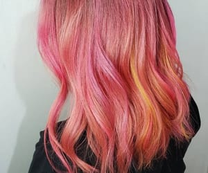 coloredhair, rainbowhair, and lunartides image