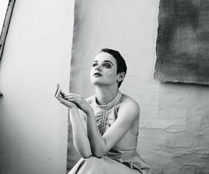 actress, joey king, and black and white image