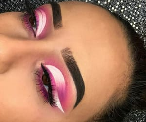 makeup, pink, and white image