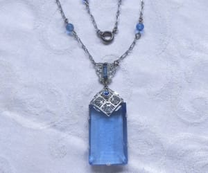 etsy, art deco jewelry, and cobalt blue necklace image