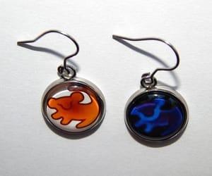 etsy, simba cartoon earrings, and children earrings image