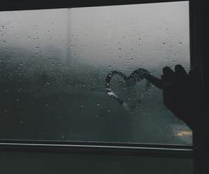 heart, rain, and grunge image